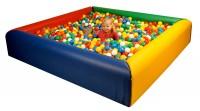 Bällebad Regenbogen - Hülle aus Leichtplanenstoff mit Schaumstoffkern
