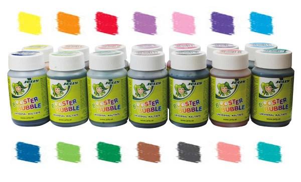 14er Set Jolly Booster Bubble – Universaltinte, 100 ml, in 14 verschiedenen Farben