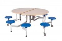 Spaceflex® 2.0 - runde Tischplatte - Tisch ausgeklappt