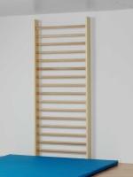 Sprossenwand 240 x 100 cm, 16 Sprossen, oberste Sprosse vorgelagert