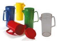 Kanne mit Deckel, 0,6 ltr. - Serie Kinderzeug - Polycarbonat Kunststoffkanne in verschiedenen Farben
