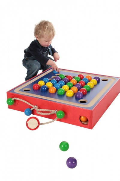 Spielzeug SINA Gabe 1B Fröbel Spiel 50mm Bunte Holzkugeln Murmeln NEU Holz Murmeln
