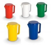"""Kanne 1,3 ltr., mit Deckel, Serie """"Kinderzeug"""" - Kunststoffkanne aus Polycarbonat in verschiedenen Farben"""