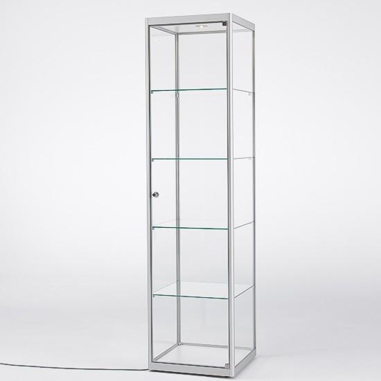 Säulenvitrine ST22 aus ESG-Glas - mit 4 Glasböden