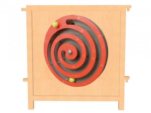 Raumteiler Mini mit Motorikelement Kugelspiel Spirale