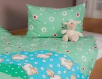 Bettwäsche-Set aus Baumwolle - Motiv Schäfchen Mint