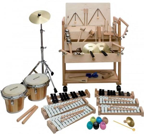 Musikwagen mit Musikinstrumenten