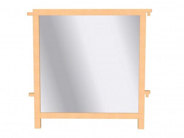 Raumteiler mit beiseitigem Spiegel, jeweils auf Holz verklebt