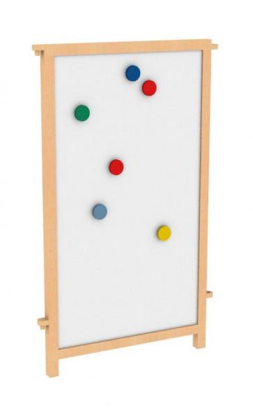 Raumteiler vorne mit weißer Magnettafel (Whiteboard)