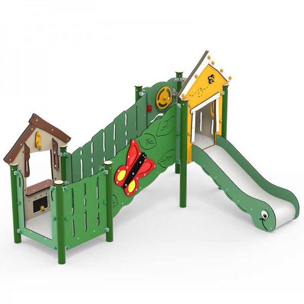 MiniPlay Spielanlage Olivia - Spielplatzgerät mit Rutsche und Kaufladenmodul