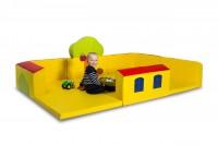Kuschel- und Spielecke Haus + Garten: formstabile Schaumstoffmodule mit 20 cm dicken Wänden