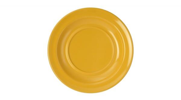 Kindergeschirr aus Melamin - Serie Colora - Untertasse in Gelb