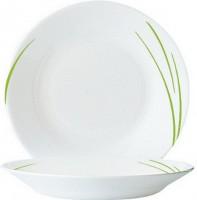 Hartglas-Geschirr Serie Toronto - Tiefer Suppenteller in Grün