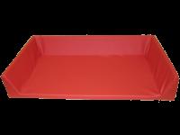 Einteilige Wickelauflage in rot für Wickelkommode in Kita oder Kindergarten