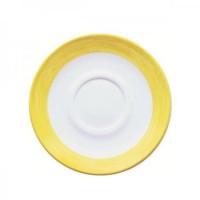 Kindergeschirr aus Hartglas Serie Brush - Untertasse in Gelb