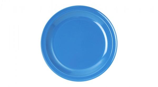 Kindergeschirr aus Melamin - Serie Colora - Speiseteller in Blau