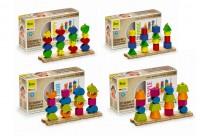 Steckspiel-Set aus 4 Steckbrettern mit 68 Holzsteckformen