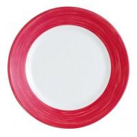 Flacher Teller in Rot Durchm. 23,5 cm aus Geschirrserie Brush von Arcoroc