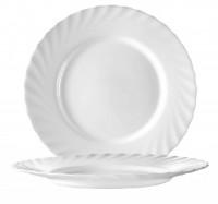 Serie Trianon - Ideal für Kita, Hort oder Schule - Speiseteller Ø 24,5 cmin weiß
