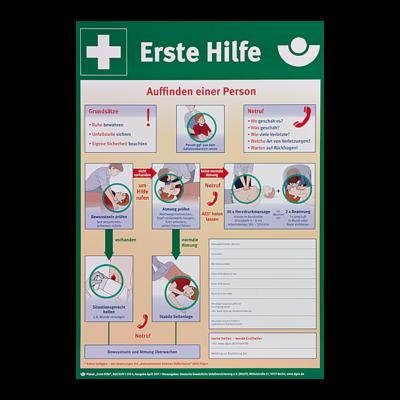 Erste-Hilfe Kunststoff-Plakat | Sanitätsraum | Erste Hilfe ...
