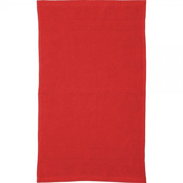 Kindergarten-Handtücher in Rot - einfache Frottier-Qualität