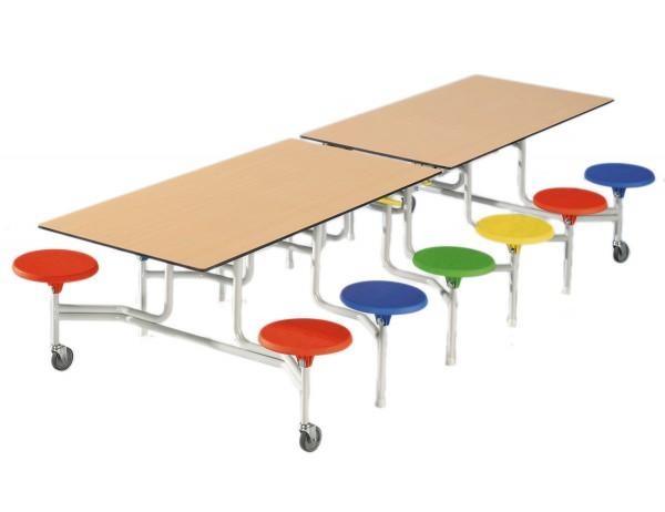Spaceflex 2.0 mit 12 Sitzen - Mobiler Klapptisch für Kita, Kindergarten, Hort und Schule