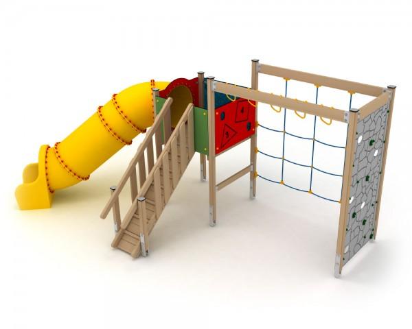 Klettergerüst Ab 2 Jahren : Ledon spielanlage huginn mit röhrenrutsche und klettergerüst für