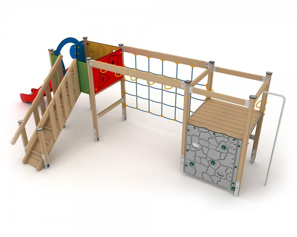Klettergerüst Ab 2 Jahren : Quadro baby playcenter mit bogenrutsche klettergerüst kletterturm