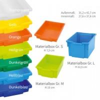 Materialboxen von Gratnell - lieferbare Farben und Größen