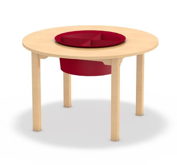 Spieltisch mit mittigem Einsatz für Spielzeug