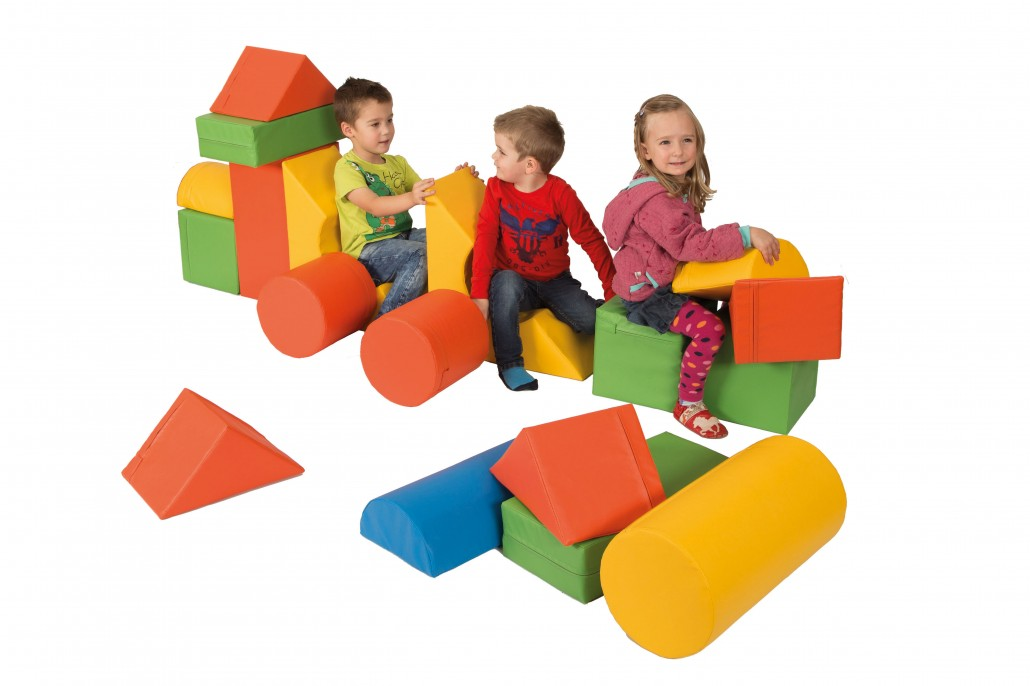 18 schaumstoffkern bausteine f r kinder in kita oder kindergarten kita. Black Bedroom Furniture Sets. Home Design Ideas