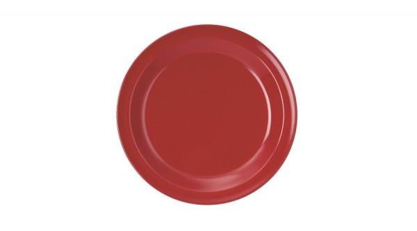 Kindergeschirr aus Melamin - Serie Colora - Dessertteller in Rot