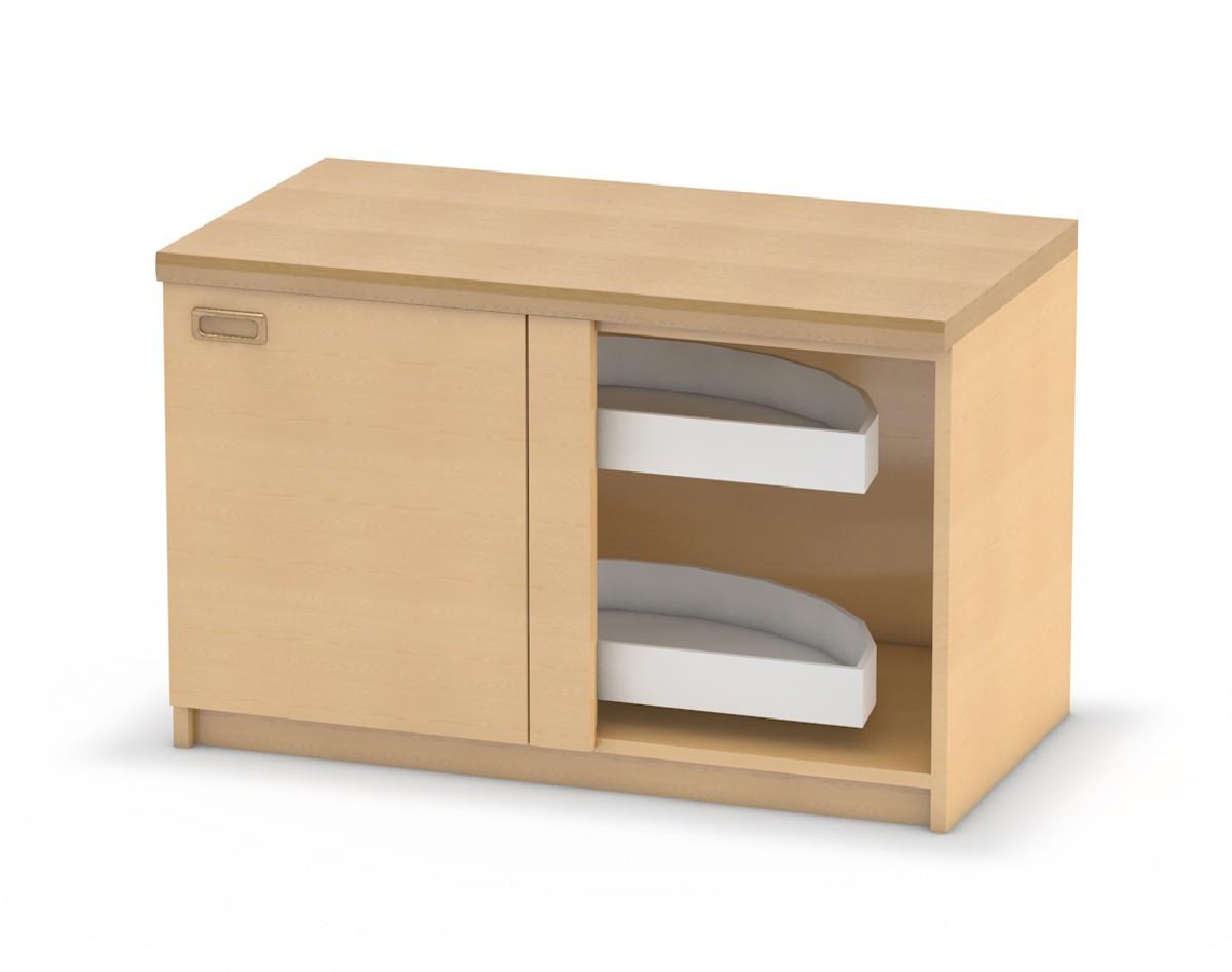 Küchen-Eck-Unterschrank mit Drehkarussel | Küchenmöbel für Kinder ...