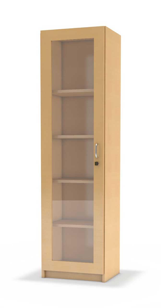 schmaler b ro hochschrank serie neonova mit hoher glas t r kita. Black Bedroom Furniture Sets. Home Design Ideas