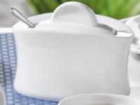 Porzellan-Geschirr Serie Adrina - Zuckerdose mit Deckel