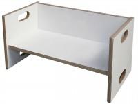Wandelbankweiß Collection debe.decor - Sitzfläche in weiß