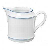 Porzellan-Geschirr Serie Heike Blaurand - Sahnegießer in weiß mit blauen Dekorstreifen