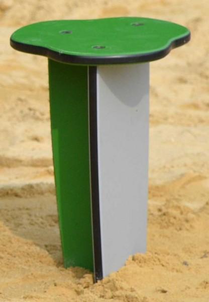 Outdoor-Sitzhocker von Ledon® - Schemel in grün/grau
