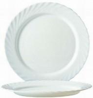 Hartglas-Geschirr Serie Trianon - Ideal für Kita, Hort oder Schule - Platzteller in weiß