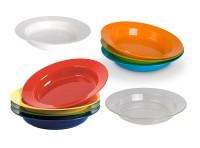 Tiefer Teller Ø 19 cm als Suppenteller in verschiedenen Farben - Geschirr aus Polycarbonat - Serie Kinderzeug