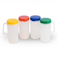 Transluzente Kanne mit Deckel in verschiedenen Farben - Kanne aus Polypropylen Serie Kinderzeug