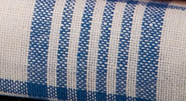 Qualitäts-Geschirrhandtuch - Karo-Design, blau