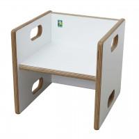 Wandelstuhl weiß Collection debe.decor - Sitzfläche weiß