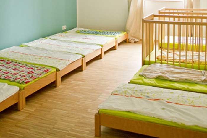 Schlafraumkonzeption mit 10 Schlafplätzen