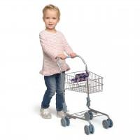 Einkaufswagen zum Schieben - mit klappbarem Kindersitz
