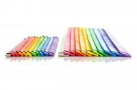 FlechtKunst mit Streifen aus Flugzeugsperrholz - 2 x (11 x 4) Streifen in 11 verschiedenen Farben