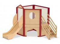 Spielburg Berti 12 als Mini-Spielhaus für Kita oder Kindergarten