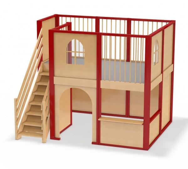 Spielhaus Wohnhaus Mit Fensterelementen Spiellandschaft Für Kinder