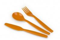 Kinderbesteck Serie Kinderzeug - Set Gabel, Messer, Kinderlöffel in Orange