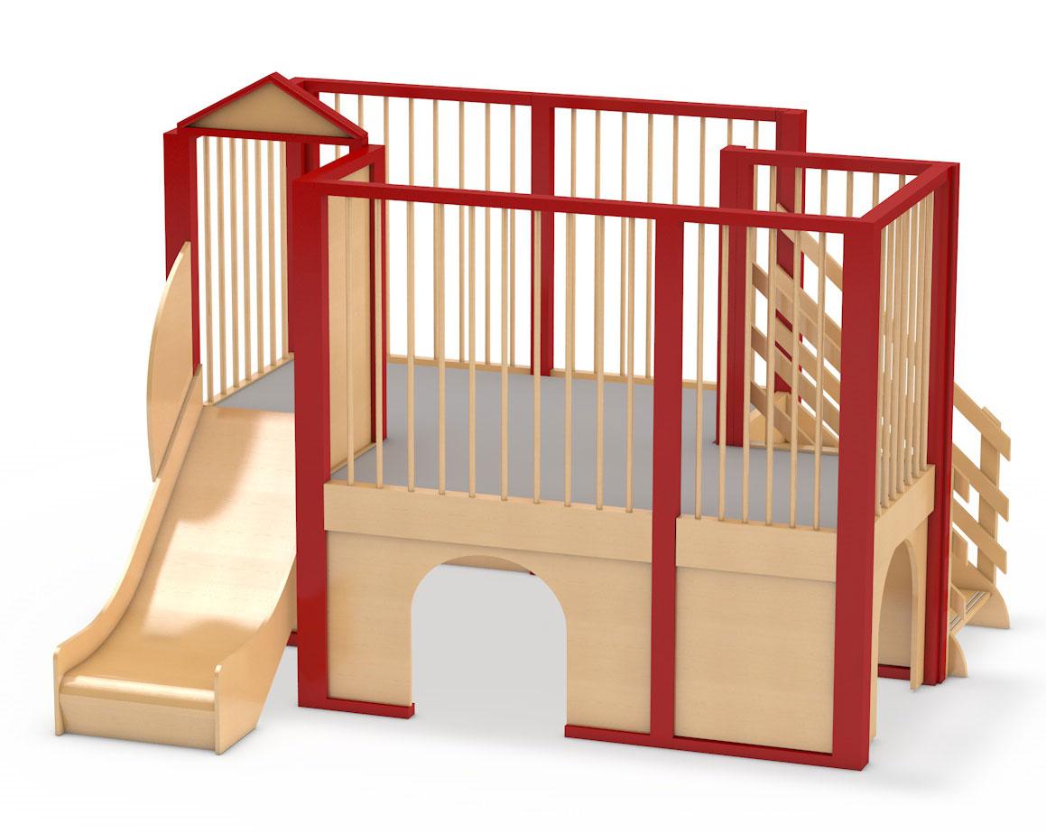 spielburg berti 5 mit trettford teppich oder linoleum belag spiellandschaft f r kinder kita. Black Bedroom Furniture Sets. Home Design Ideas